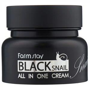 Крем с муцином чёрной улитки Black snail all in one cream