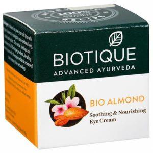 Крем Biotique для кожи вокруг глаз Bio Almond Soothing & Nourishing Eye Cream